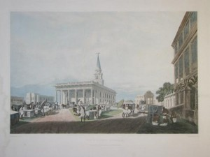 St John's Cathedral. One of Fraser's views of Calcutta life in the early 19th century.
